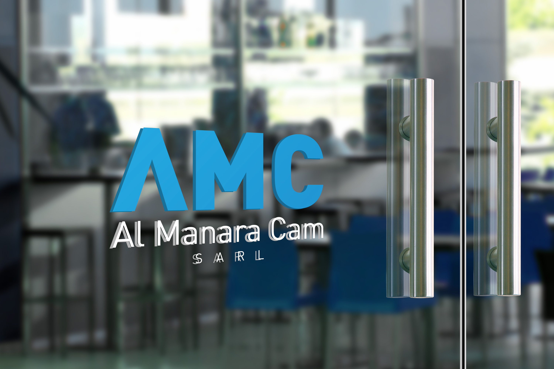 Logo bir cam üzeri uygulamada duruş